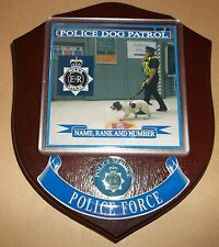 Police Dog Patrol Wall Plaque personalised free of charge.