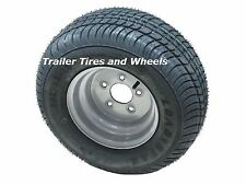 20.5 X 8-10 (205/65-10) LRE 5 bolt Silver Triton Snowmobile Trailer Tire & Wheel
