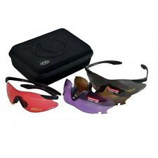 TOP GUN XPro CLAY PIGEON SHOOTING SPORT GLASSES 4 INTERCHANGEABLE LENS SAFETY