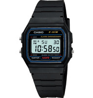 Casio Quartz Digital Sport Black Resin Band 33mm Watch F91W-1 NEW FREE SHIPPING