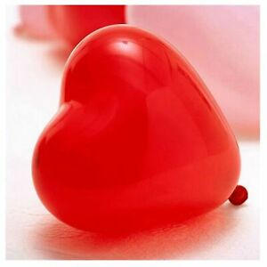 5 X Quality Red Latex Heart Balloons Valentines Balloon Wedding Baloon Party