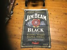 Black Jim beam bourbon JD  bundy mancave bar flag poster  bar ware pool room