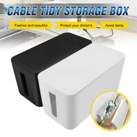 Cable Storage Box Cord Wire Management Socket Safety Tidy Organizer Container