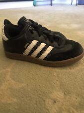 Adidas Samba Classic Shoes Black Leather Indoor Soccer 036516 Youth Boys Size 1