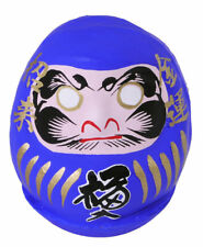 "Japanese 2-1/4""H Blue Lucky Talisman Daruma Doll for Achievement Made in Japan"