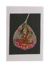 Peinture artisanale feuille pipal peepal arbre de bodhi Lakshmi  4353 MP