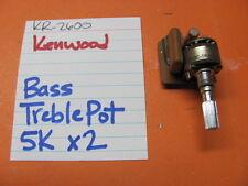 KENWOOD BASS TREBLE POT 5K x2 KR-2600 STEREO RECEIVER