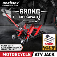 680KG Motorcycle Hydraulic Jack Motorbike Lifter Low Profile ATV Stand Hoist