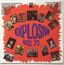 T.REX/DAVE EDMUNDS/STEVIE WONDER/HOLLIES Explosive Hits '73 OZ EMI EX/EX