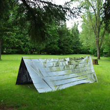 EMERGENCY SURVIVAL TENT - Camping Hiking First Aid Two Person Shelter Foil Sheet