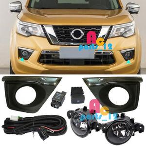 Driving Lamp Fog Light Cover Bezel Wiring Swtich Kits For Nissan Terra 2018 2019