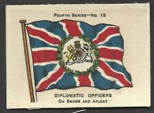 More details for ardath - flags 4th series (silk) - #12 diplomatic officers, on shore and afloat