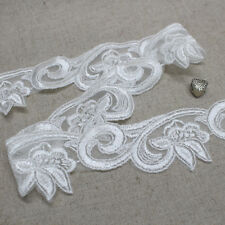 14yds Broderie Anglaise Tulle Eyelet Lace Trim sh34 3.5cm Off-White laceking2013