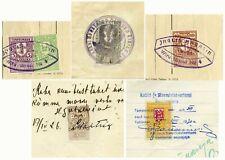 1921-30 ESTONIA ESTONIAN FIVE DOCUMENTS WITH REVENUES