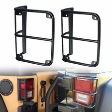 2x Tail Light Guards Cover Rear Lamps Trim Cover For 2007-2016 Jeep Wrangler JK
