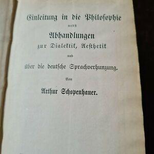 antiqu buch artur schopenhauer nachlass no2,und biographie dr damm,um 1900