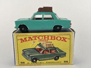 Original MATCHBOX Lesney Series No 56 FIAT 1500 TEAL w original Box