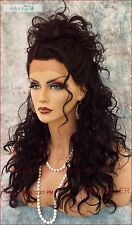 Lace Front Wig   Dazzling Sexy Corkscrew Curls Color1B Soft Black USA Seller 497