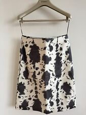 BURBERRY PRORSUM AW13 WOMENS PRINTED LEATHER SKIRT SIZE 8 6 £1595 RETAIL! DRESS