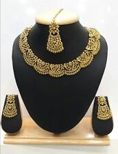 Indian Jewelry Bollywood Bridal Necklace Gold Ethnic New Trendy Fashion Set P 2