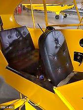 Piper J3 Cub Leather Seat Cushion Set, 4 Cushions, Classic!