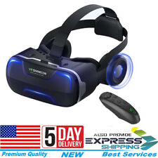 Virtual Reality VR Headset t Box 3D Glasses With Remote For Android iPhone 7 8 X