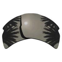 Black Iridium Mirrored Polarized Replacement Lenses for-Oakley Flak 2.0 XL