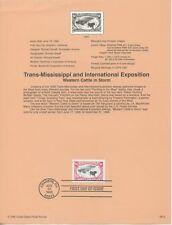 1998 FDI, $1.00 TRANS MISSISSIPPI,  SOUVENIR PAGE