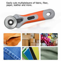 45mm Patchwork Roller Wheel Rotary Round Cutter Tailor Sewing Craft Tool