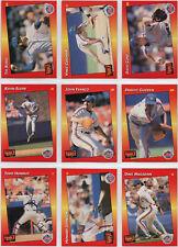1992–1994 DONRUSS TRIPLE PLAY New York Mets Team Sets (29 Cards) - NM-MT