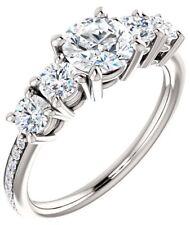 GIA 1.01 carat Round Diamond Engagement Wedding 14k White Gold Ring E color VS1