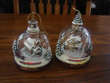 Thomas Kinkade Bradford Edition Winter Places Snow Globe Ornaments