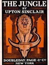 Publicité dessin housse livre roman jungle upton sinclair lion crâne posterabb 5833B