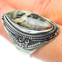Large Ocean Jasper 925 Sterling Silver Ring Size 9 Ana Co Jewelry R30759F
