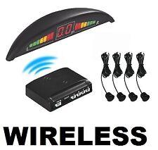 Kit 4 Sensori di Parcheggio Retromarcia Wireless Display Cicalino Neri Linq
