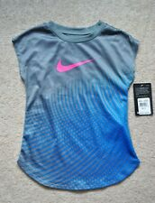 Nike Girls' Dry-Fit Gray Short Sleeves Performance T-Shirt - Size 6X