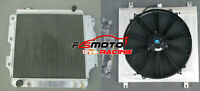 3row Aluminum Radiator+Shroud+Fan FOR Jeep Wrangler YJ TJ LJ RHD 1987-2006 AT/MT