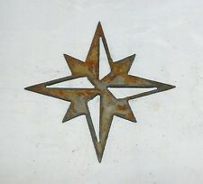 """6"""" North Star Compass Rose Shape Rusty Rustic Vintage Metal Wall Art Craft Sign"""