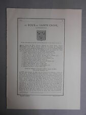 Généalogie - Famille : De Roux- De Sainte Croix.