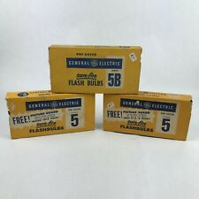 General Electric GE Sure-Fire Flash Bulbs Number 5 and 5B (33 Bulbs)
