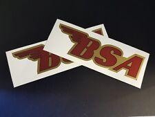 2 x BSA Motorbike Motor Cycles Car Decal Vinyl Sticker For Bumper