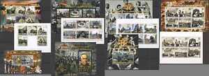J1329 SALE WORLD WAR WWII 70TH ANNIVERSARY LIBERATION LENINGRAD !!! 8KB+3BL MNH