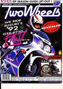 Two Wheels Magazine March 1992 Suzuki GSX-R750WN