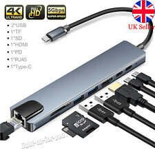 More details for 8-in-1 usb-c hub type-c hdmi rj45 multiport card reader adapter for macbook pro