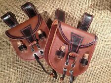 Two Handmade Medieval Fantasy LARP Soft Leather Belt Alchemy Pouch Medicine Bags