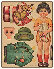 Craft cd 45 Vintage paper dolls papercrafts retro toys parties cards cut outs