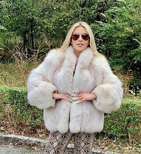 XL  White Fox  Fur Jacket