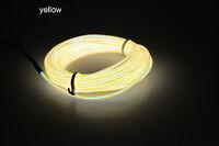 1/2/3M 5mm LED Flexible Neon Light Glow EL Wire Rope Tube Car Dance Party Decor