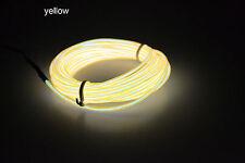 1/2/3/4/5M Led Flexible EL Wire String Neon Glow Light + Controller Party Decor