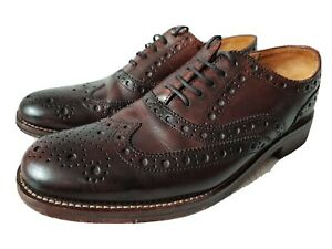 MENS GENTS CHAPMAN & MOORE LEATHER BURGUNDY OXFORD BROGUES FORMAL SHOES UK  8